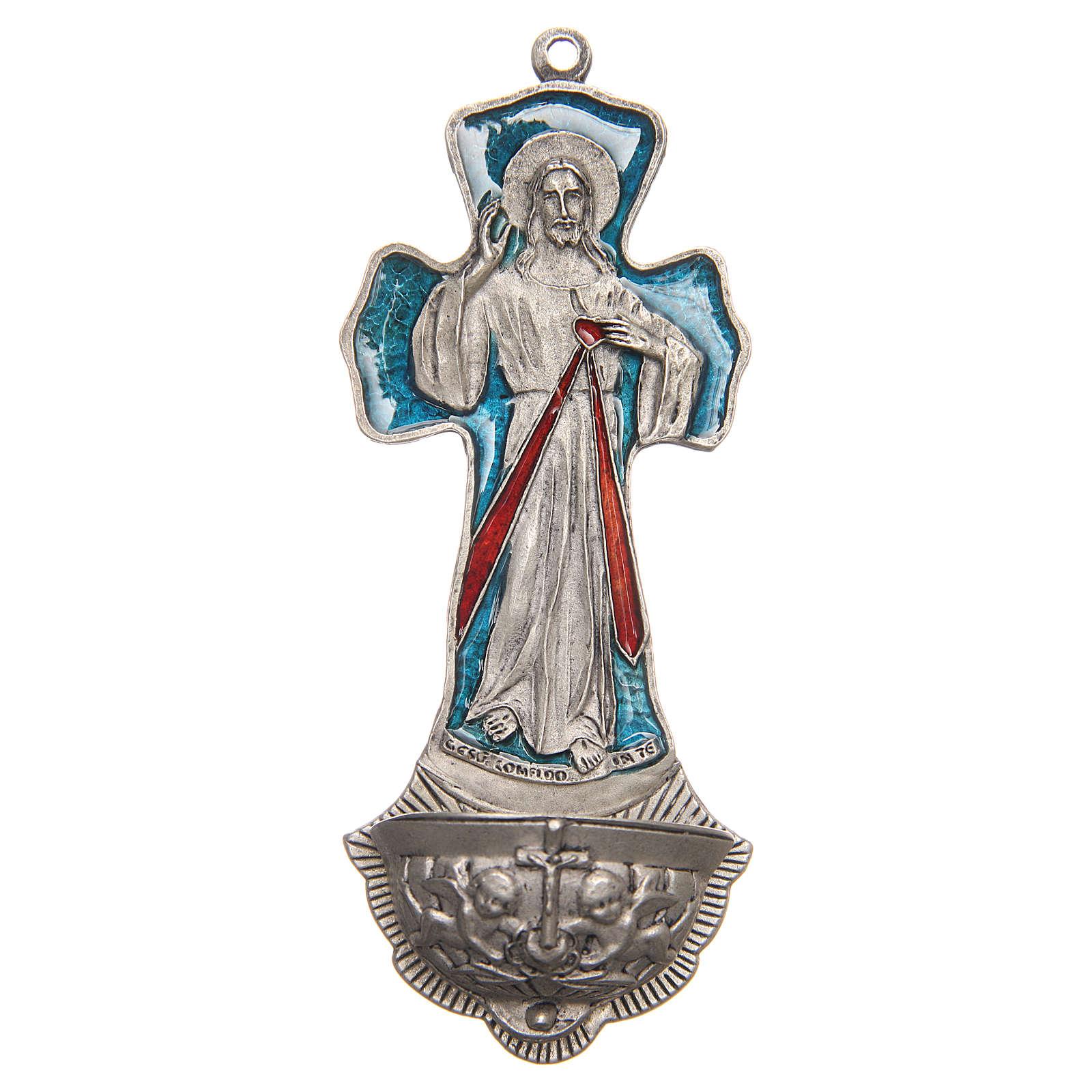 Acquasantiera Croce Gesù Misericordioso 4
