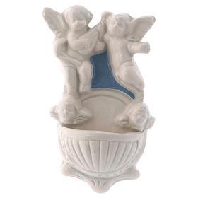 Pila dos angelitos dos caras ángel fondo azul 12x7x3 cm s1