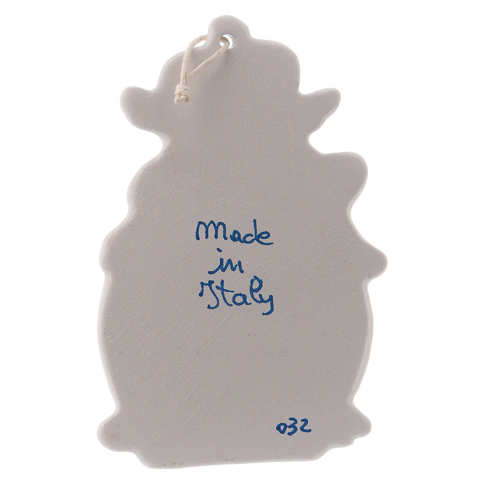 Acquasantiera con angeli 10 cm ceramica Deruta 4