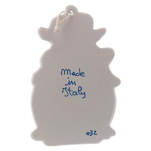 Acquasantiera con angeli 10 cm ceramica Deruta 3