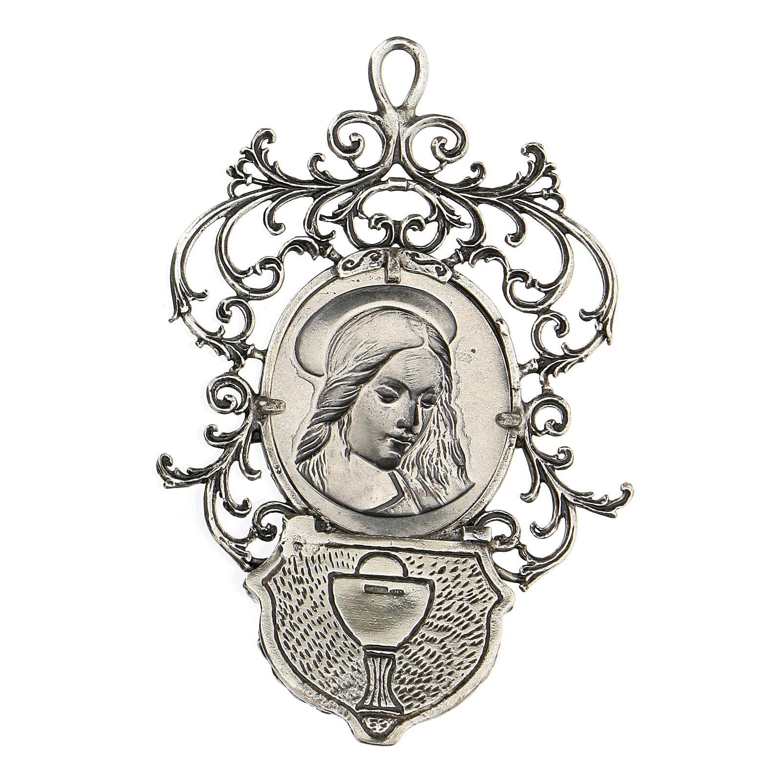 Acquasantiera con Madonna argento 800 4