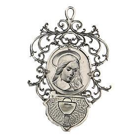 Acquasantiera con Madonna argento 800 s2