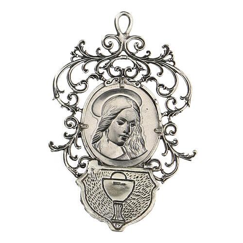 Acquasantiera con Madonna argento 800 2