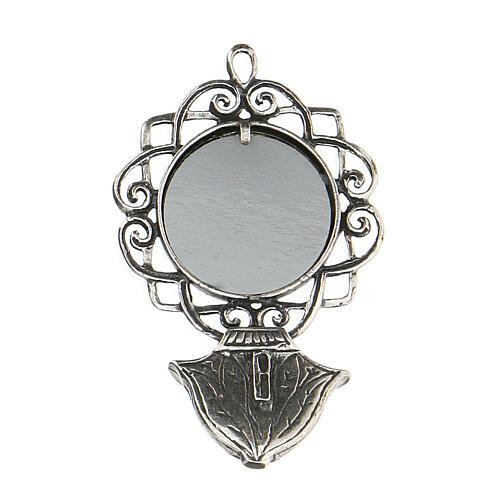 Acquasantiera 6 cm con Madonna argento 800 2