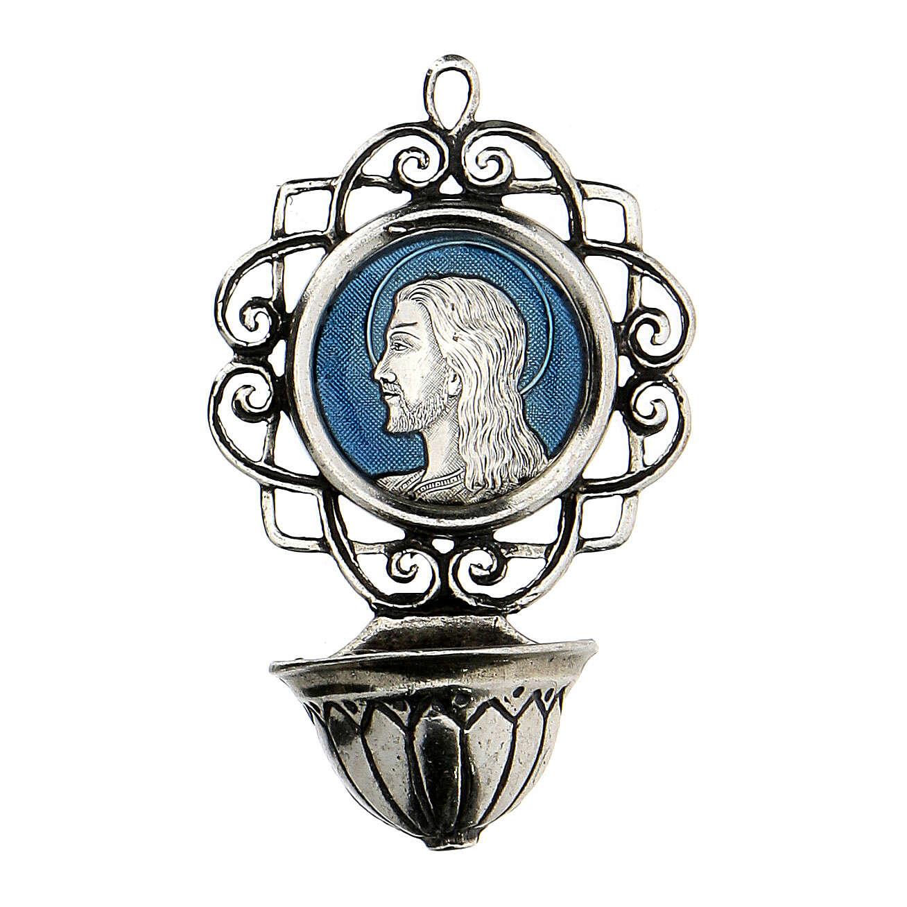 Pila 6 cm con Jesús de plata 800 4