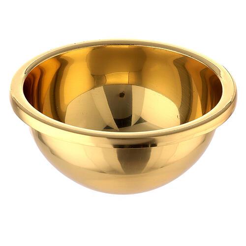 Pila cruz plana latón dorado 31 cm 6