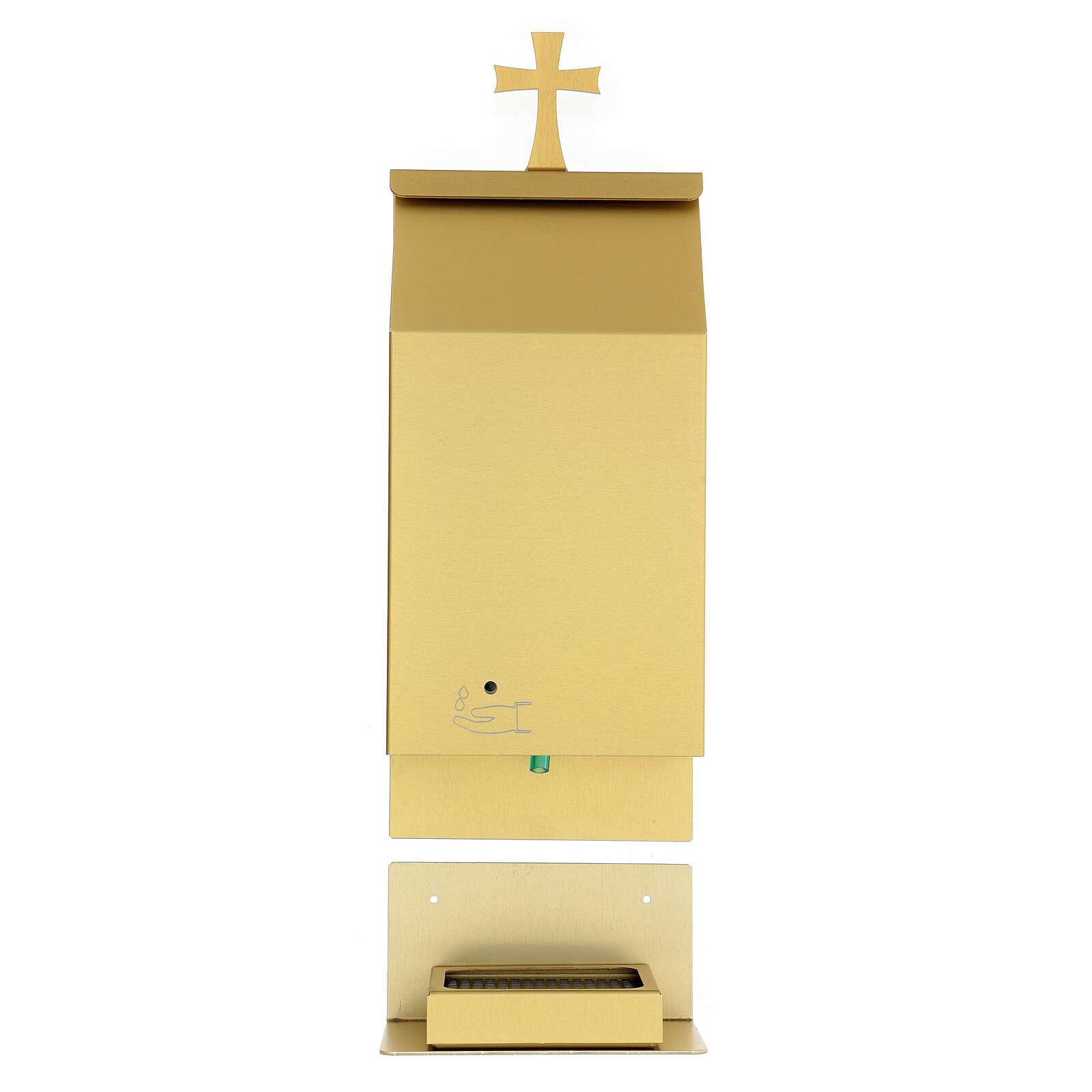 Acquasantiera a sensore alluminio anodizzato oro 4