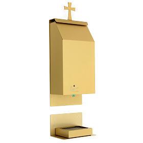 Acquasantiera a sensore alluminio anodizzato oro s4