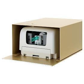 Acquasantiera a sensore alluminio anodizzato oro s9