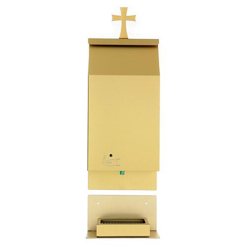 Acquasantiera a sensore alluminio anodizzato oro 1