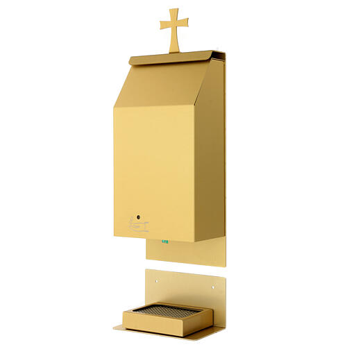 Acquasantiera a sensore alluminio anodizzato oro 3