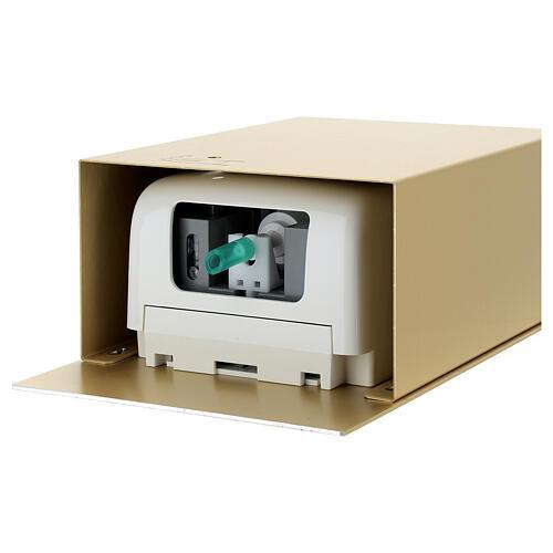 Acquasantiera a sensore alluminio anodizzato oro 9