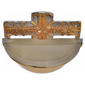 Bénitier doré, croix s4
