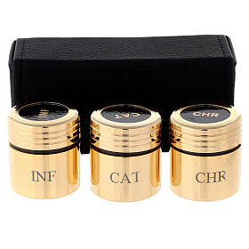 Heilige Öle Etui mit goldenen Gläschen s1
