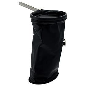 Klingelbeutel, Schwarz mit Vorhängeschloss s4