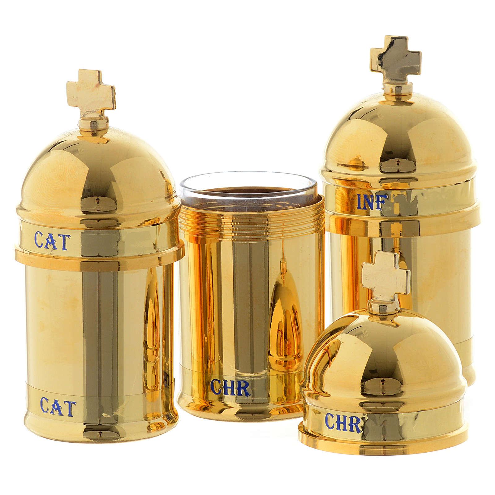 Santo óleo: estuche 3 vasitos interior azul 3