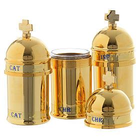 Santo óleo: estuche 3 vasitos interior azul s2
