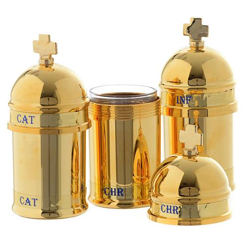Santo óleo: estuche 3 vasitos interior azul 2