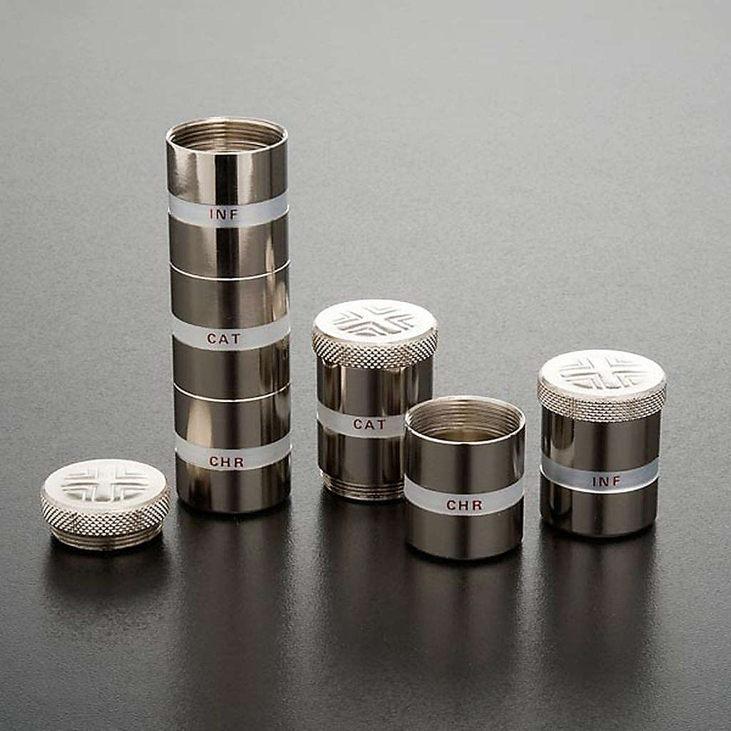 Holy Oils: Oil stock in silver, stacking 3