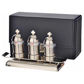 Saintes huiles: étui avec 3 vases modèle vintage s3