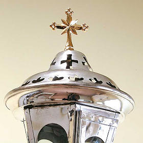 Procession lamp, glass and brass s2