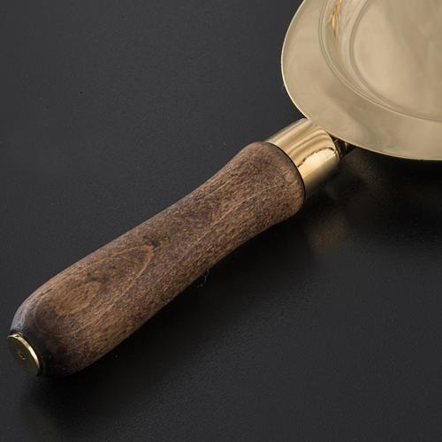 Piattello per comunione ottone manico legno 4
