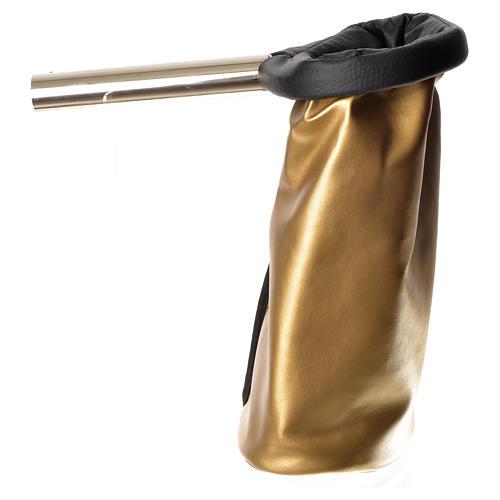 Bolsa para ofrendas (limosna) dorado y negro reversible 2