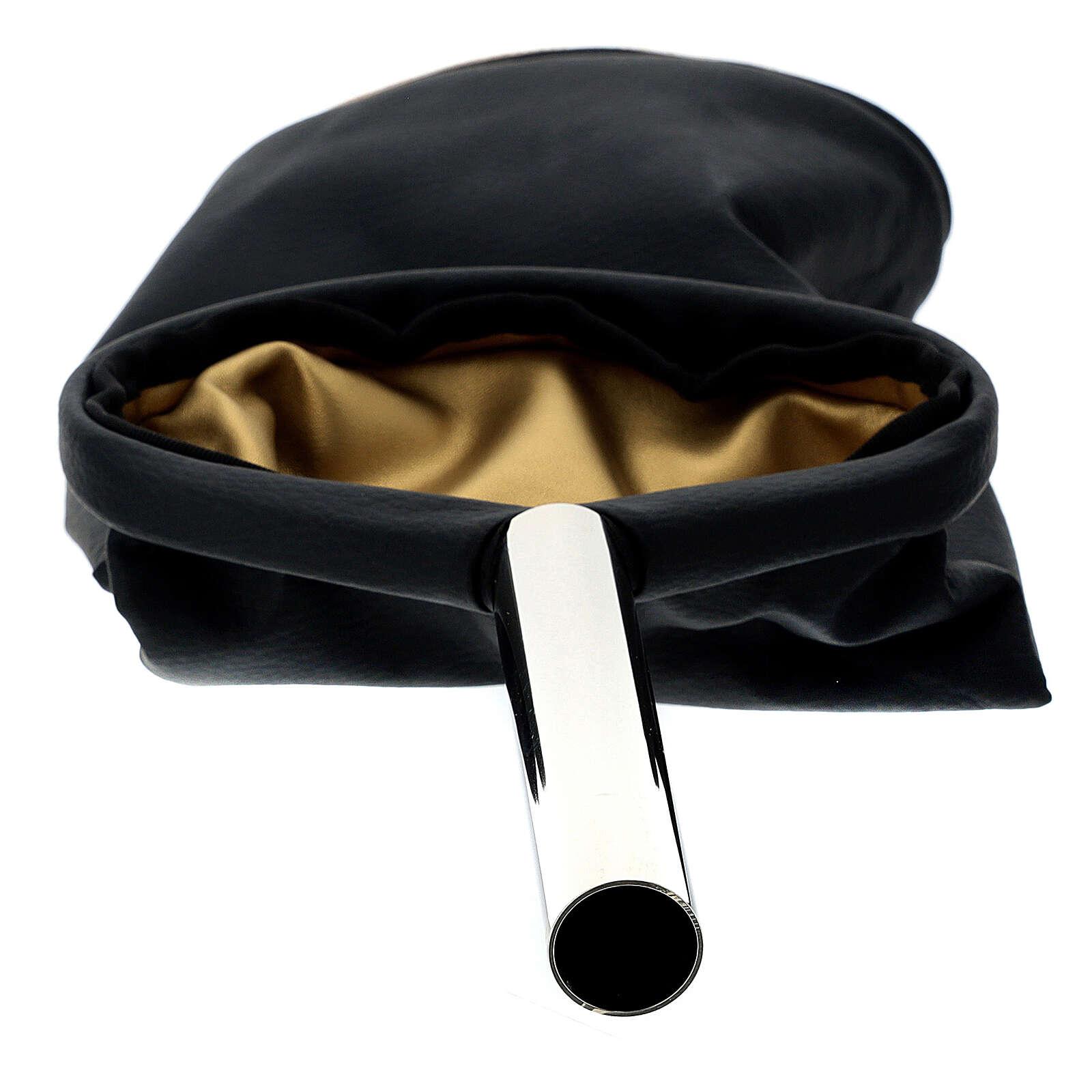 Alms bag, reversible golden and black 3