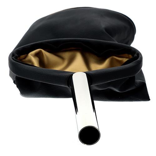 Alms bag, reversible golden and black 5