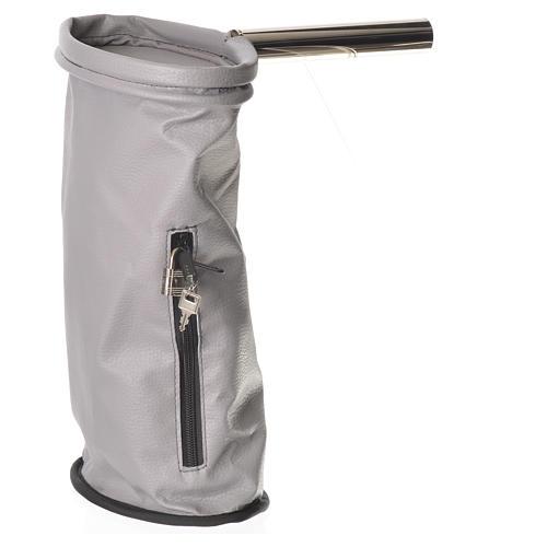 Bolsa para ofrendas con candado gris 1