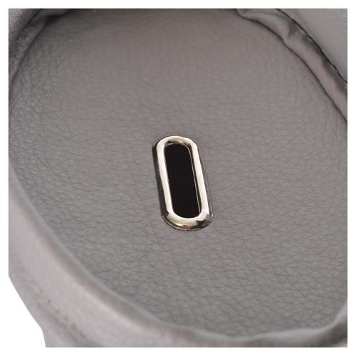 Borsa portaelemosina con lucchetto grigia 4