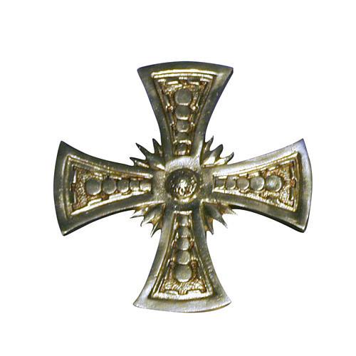 Cruz para consagración latón fundido dorado 20x20 cm 1