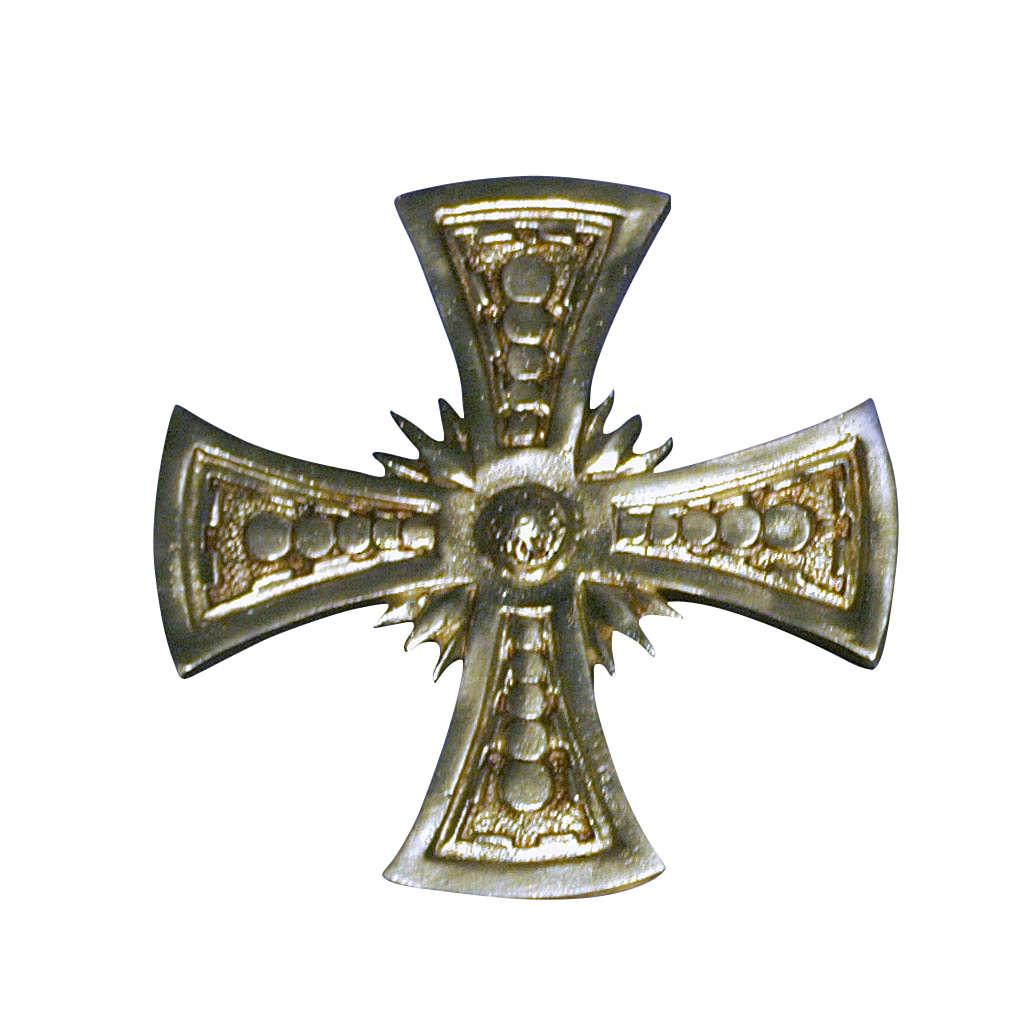 Croix pour consécration laiton moulé doré 20x20 cm 3