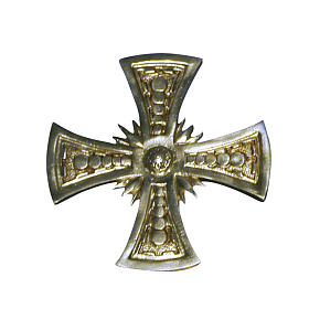 Croce per consacrazione ottone fuso dorato 20x20 cm s1
