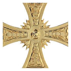 Croce per consacrazione ottone fuso dorato 20x20 cm s2