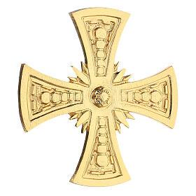 Croce per consacrazione ottone fuso dorato 20x20 cm s3