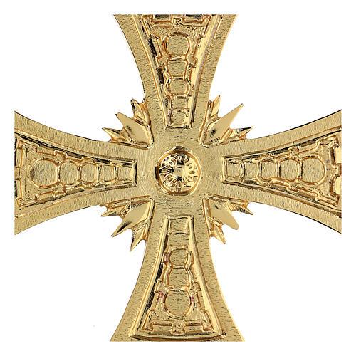 Croce per consacrazione ottone fuso dorato 20x20 cm 2