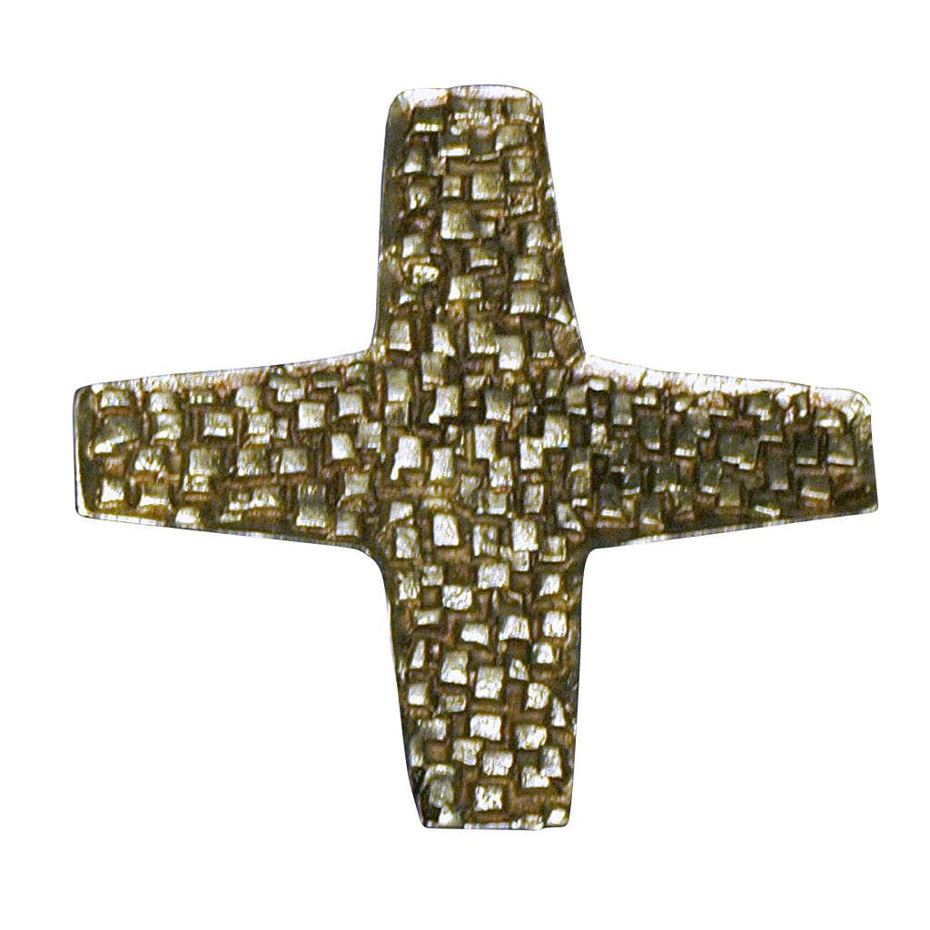 Cruz para consagración de iglesia latón fundido 22x22 cm 3