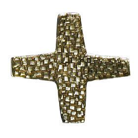 Cruz para consagración de iglesia latón fundido 22x22 cm s1