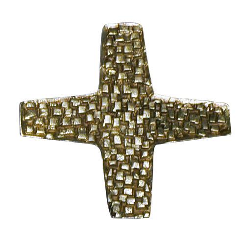 Cruz para consagración de iglesia latón fundido 22x22 cm 1