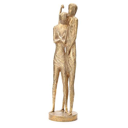 Saint Jean Baptiste stylisé laiton bronzé 58cm 2