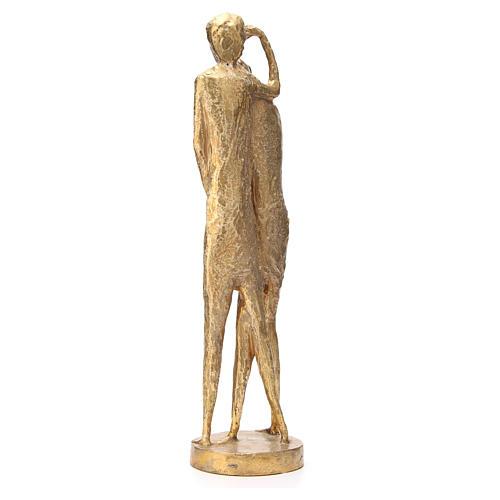 Saint Jean Baptiste stylisé laiton bronzé 58cm 3
