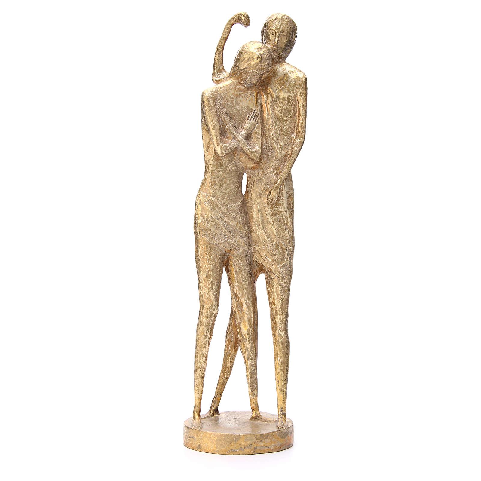 San Giovanni Battista stilizzato ottone bronzato 58 cm 4