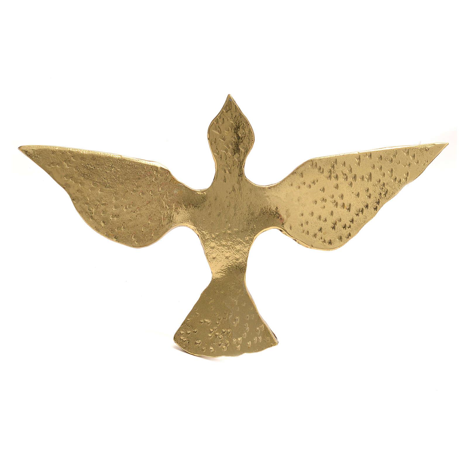 Colomba ottone bronzato 15x24 cm 4
