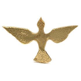 Colomba ottone bronzato 15x24 cm s1