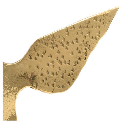 Colomba ottone bronzato 15x24 cm 3