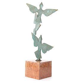 Composizione colombe base marmo 55 cm s2