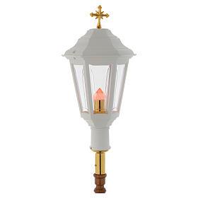 Lampione da processione bianco manico legno 2 mt s3