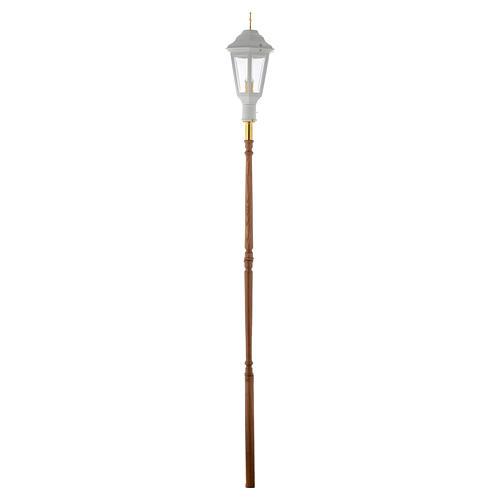 Lampione da processione bianco manico legno 2 mt 5