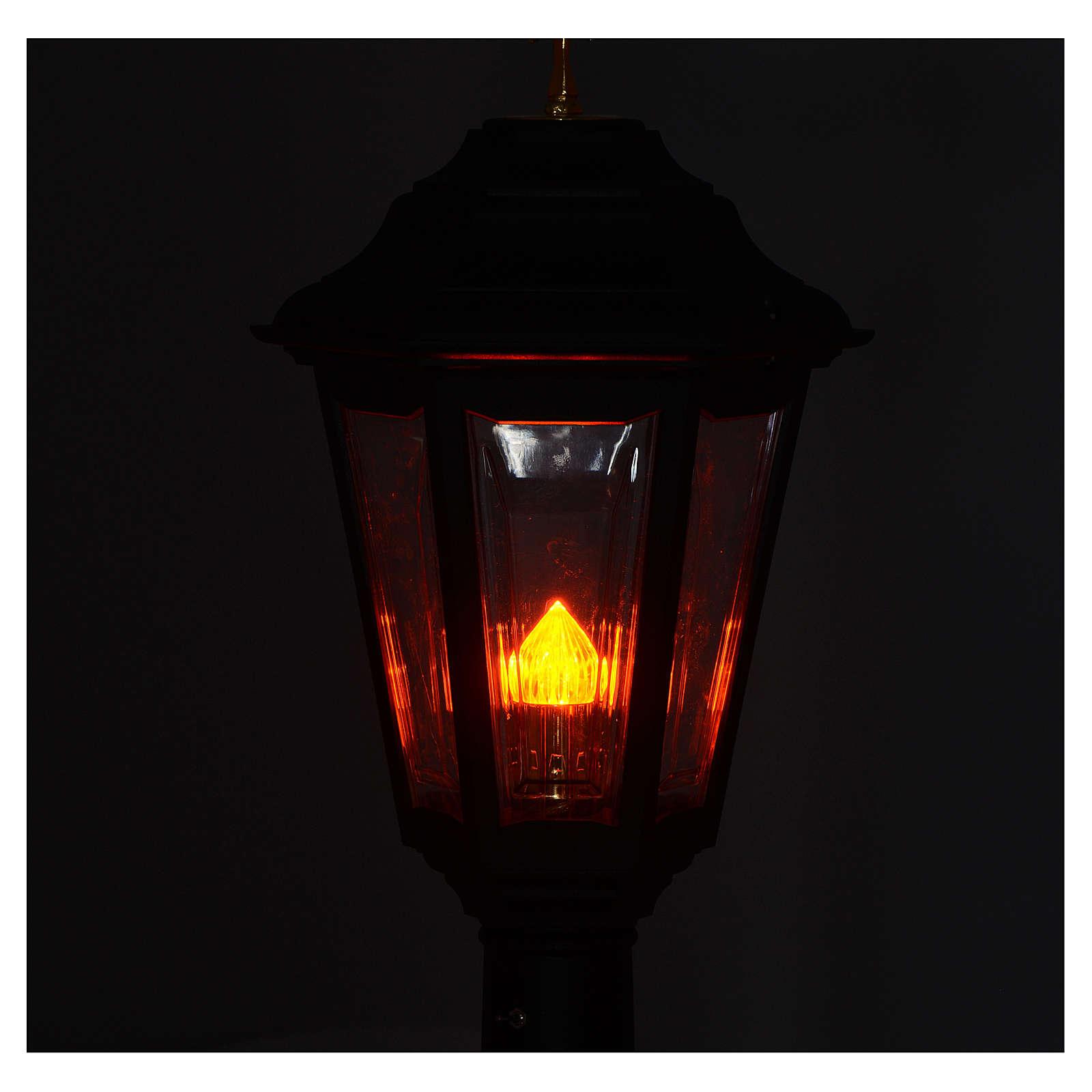 Lampione da processione nero manico legno 2 mt 3